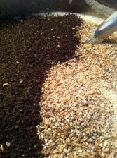 Mashing grain